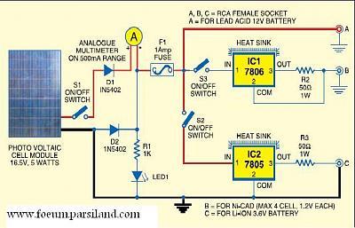 مدار شارژر سفری خورشیدی   پارسی لند